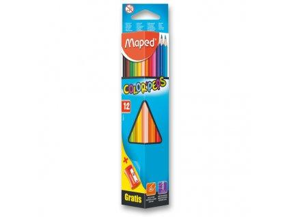 Pastelky Maped Color´Peps, 12 barev, ořezávátko Vivo ZDARMA