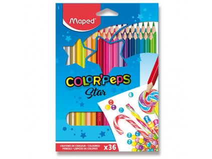 Pastelky Maped Color´Peps, 36 barev