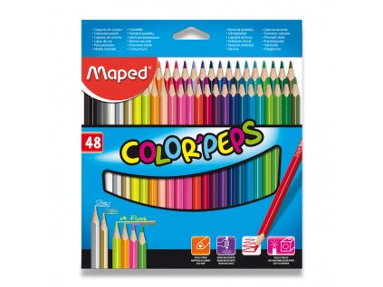 Pastelky Maped Color' Peps, 48 barev