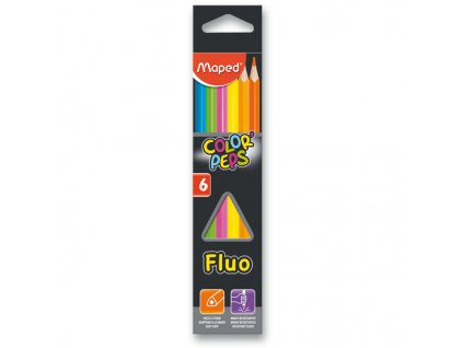 Pastelky Maped Color´Peps Fluo, 6 barev