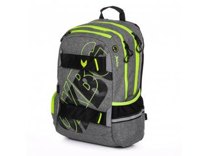 Studentský batoh OXY Sport BLACK LINE, Karton P+P, GREEN