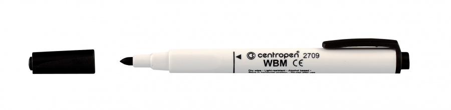 Centropen Fix na tabulky - WBM stíratelný 2709 - mix barev Barva: Černá