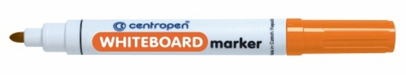 Fix na bílé tabule Centropen - WBM stíratelný 8559 - mix barev Barva: Oranžová