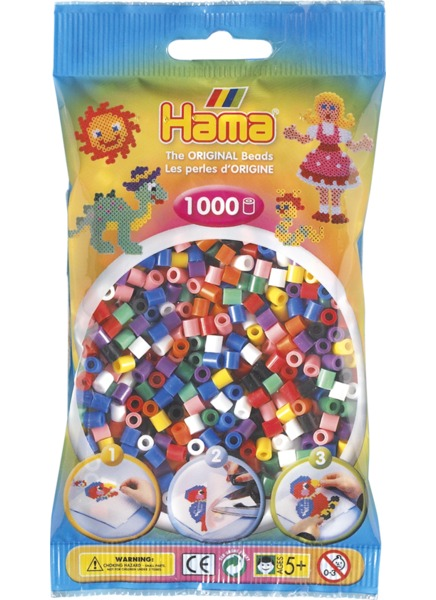 Hama H207-00 - Zažehlovací korálky MIDI mix V 1.000 ks