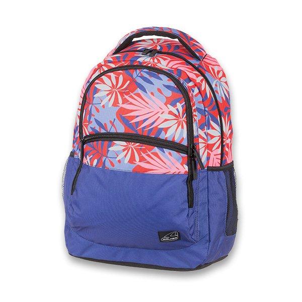 Školní batoh pro holky Walker Base Classic Red Leaves