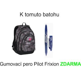 Školní batoh pro holky Bagmaster ENERGY 7 A BLACK/PINK/VIOLET