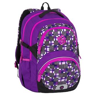 Školní batoh pro holky od 3. třídy Bagmaster THEORY 7 C VIOLET/PINK