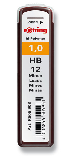 Tuhy Rotring -1,0 mm HB, 12 ks