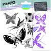 Razítka gelová Aladine Stampoclear - Motýlci