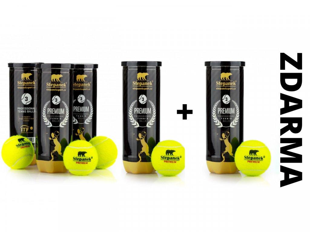 Tenisové míčky Stepanek PREMIUM 4+1 zdarma