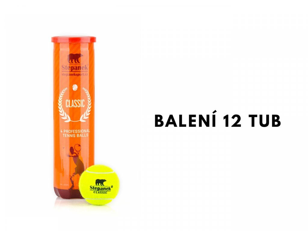 Tenisové míčky Stepanek Classic (48ks)