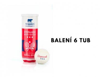 Tenisové míčky Stepanek RETRO (18ks)