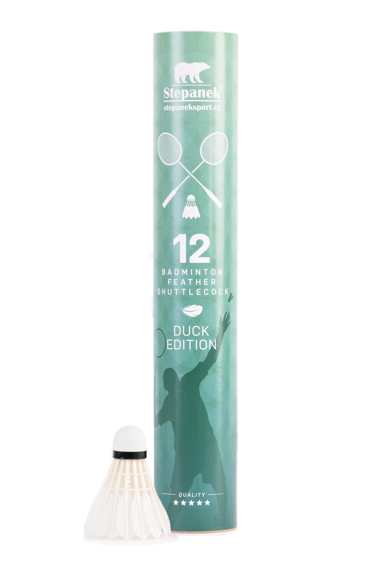 Badmintonové míčky Stepanek Duck Edition (12ks) Rychlost: 76 - Zelená - Pomalé