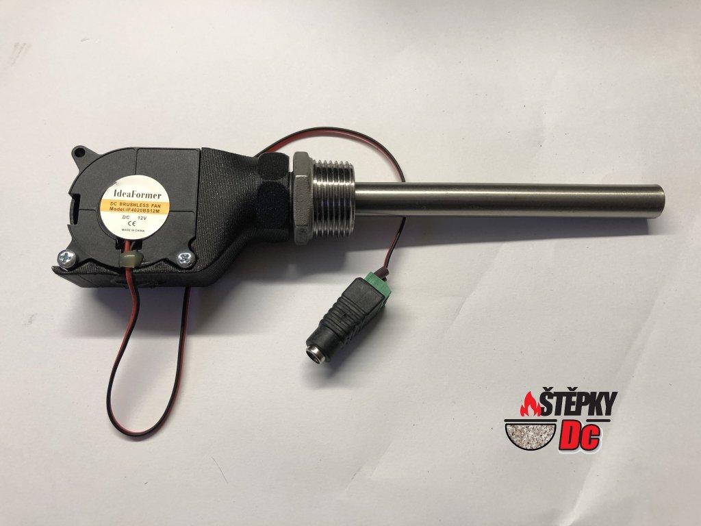 """Motůrek 12V s redukcí 3/4"""" včetně trubičky 12mm x 14cm nerez"""