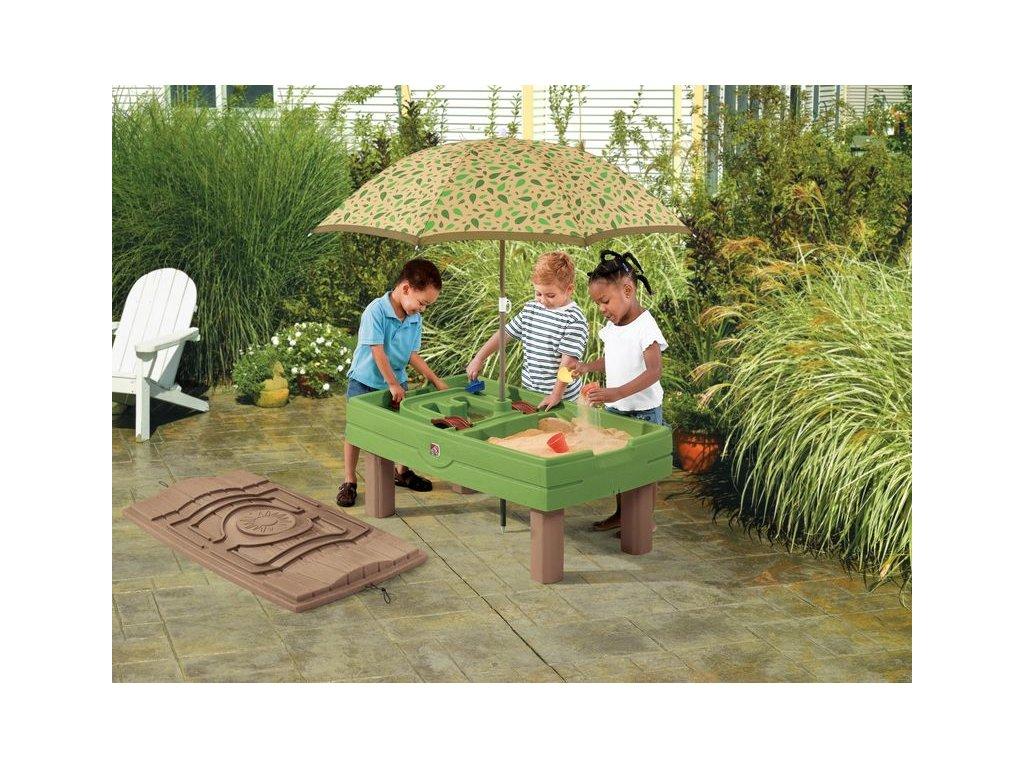 herní stůl s pískem a vodou,pískoviště s krytem Step2