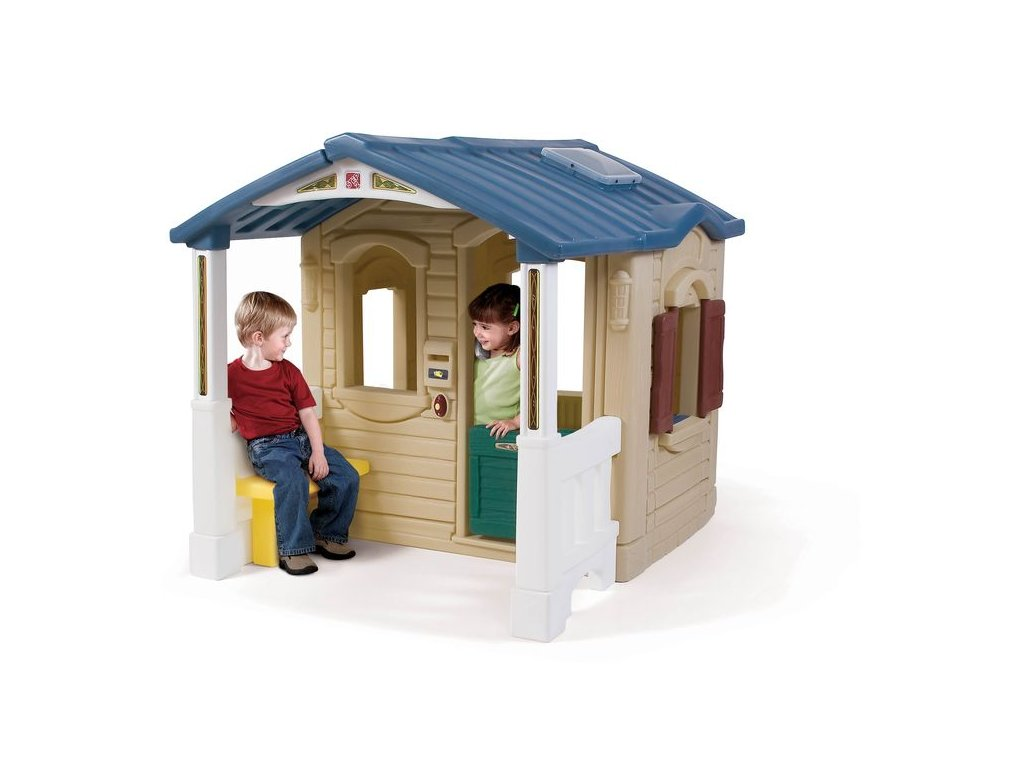 Dětský hrací domek s terasou,dětský domeček,domeček