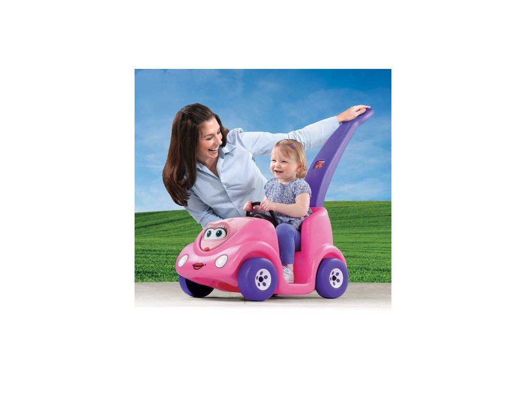 vozítko buggy růžové,vozítko buggy s vodicí tyčí
