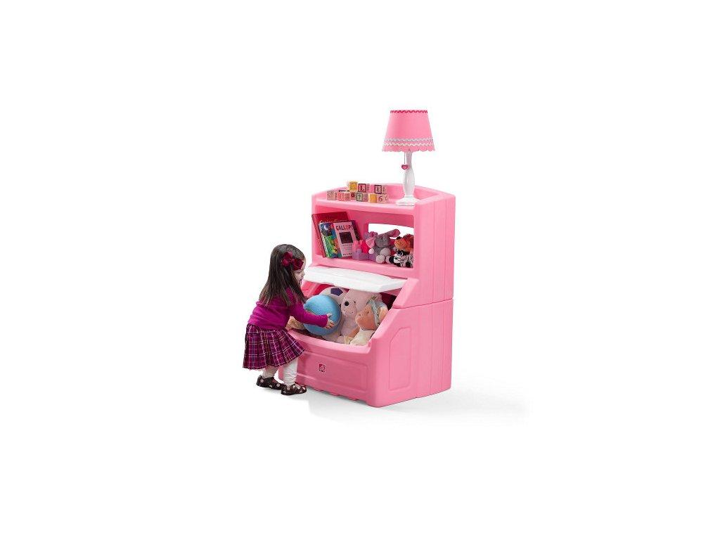 Skříňka na hračky růžová,box na hračky