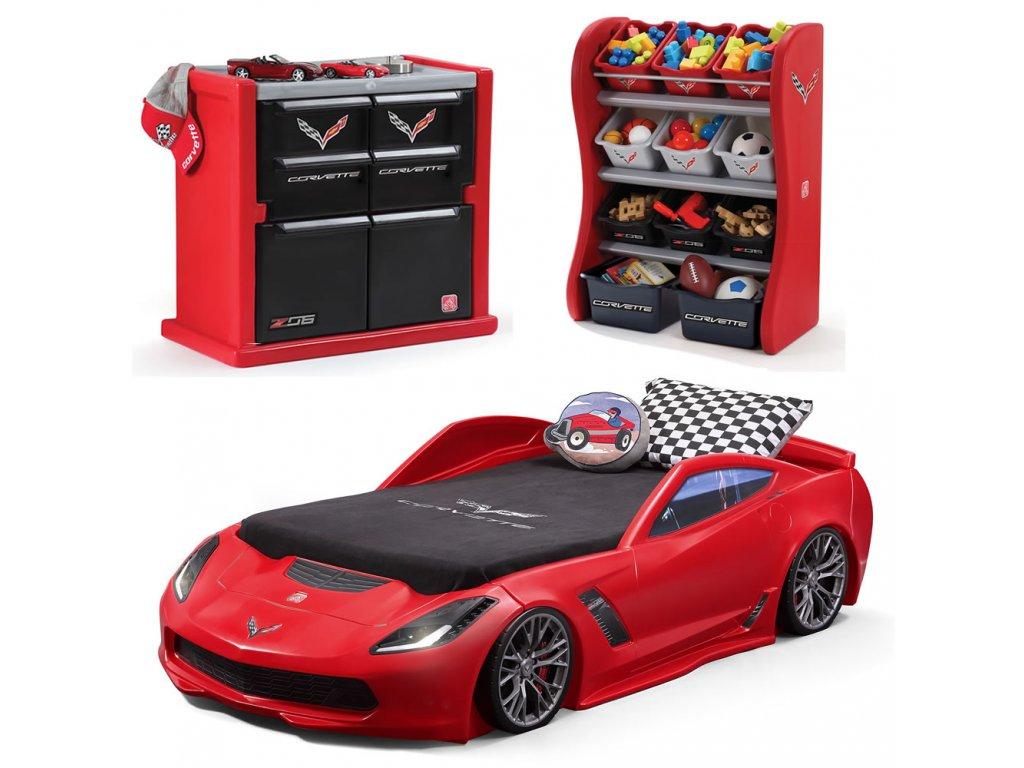 Dětský pokoj Corvette,postel auto,autopostel,dětský nábytek