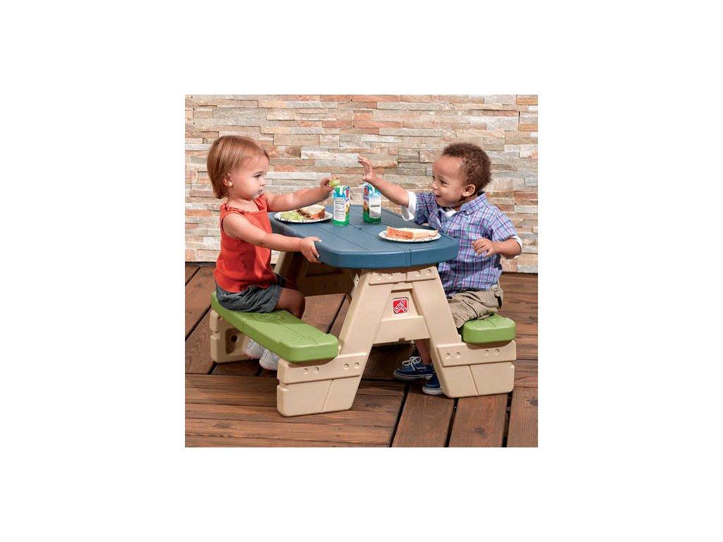 dětský piknikový stoleček se slunečníkem Junior