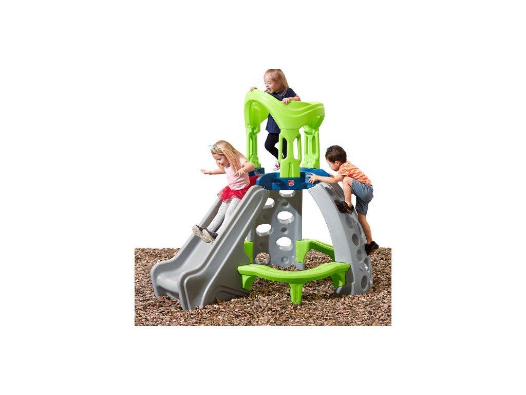Prolézačka se skluzavkou Castle Top Mountain,dětská lezecká stěna se skluzavkou, prolézačka pro děti na zahradu