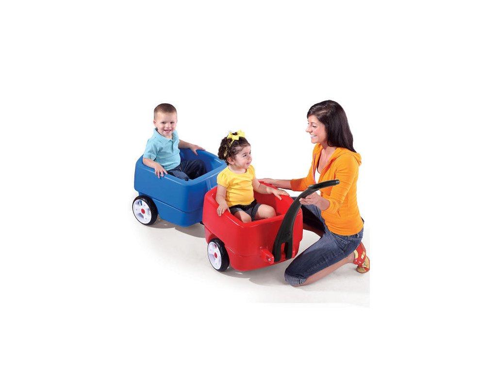 Vagón pro 2 děti Choo Choo,vozík pro 2 děti,vozík pro dvojčata
