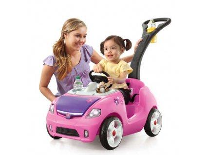 vozítko buggy whisper růžové,vozítko s vodicí tyčí