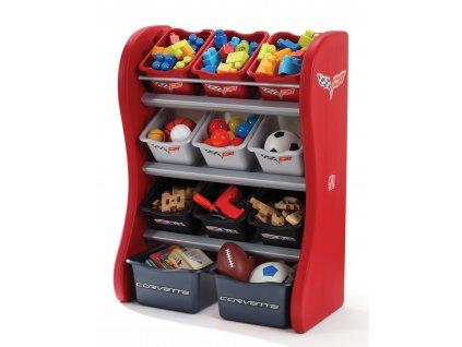 policová skříňka na hračky Corvette,boxy na hračky