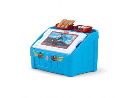 Box na hračky Mašinka Tomáš, úložný box na hračky, box s víkem