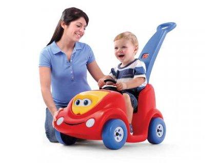 dětské autíčko s vodicí tyčí,vozítko,odrážedlo,vozítko buggy červené