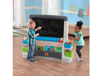 kreslící magnetická tabule, velká oboustranná tabule dětská