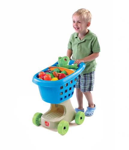 STEP2 Dětský nákupní košík modrý