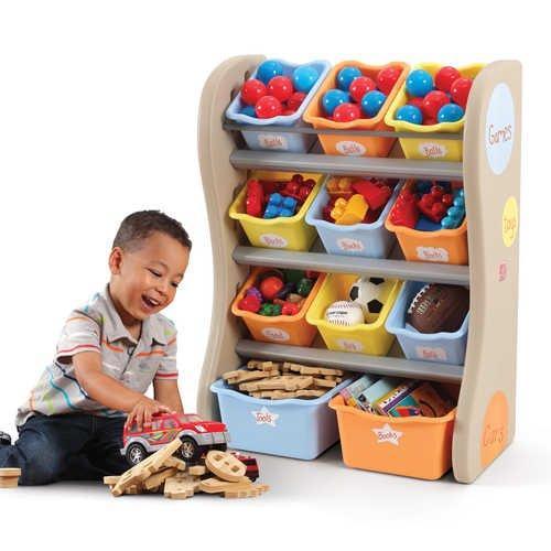 Step2 Skříňka s boxy na hračky TROPICAL