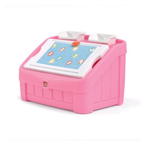 Step2 Box na hračky 2v1 růžový