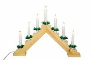 Vánoční osvětlení na stůl