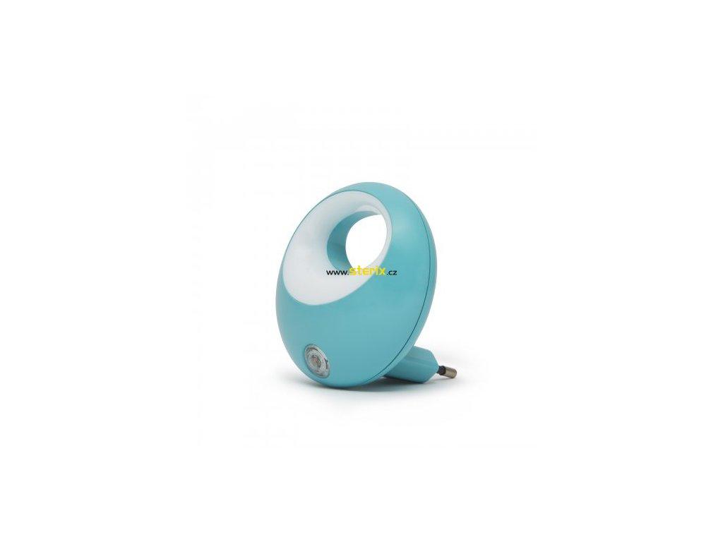 LED noční lampička 1W/230V se světelným senzorem, modré světlo