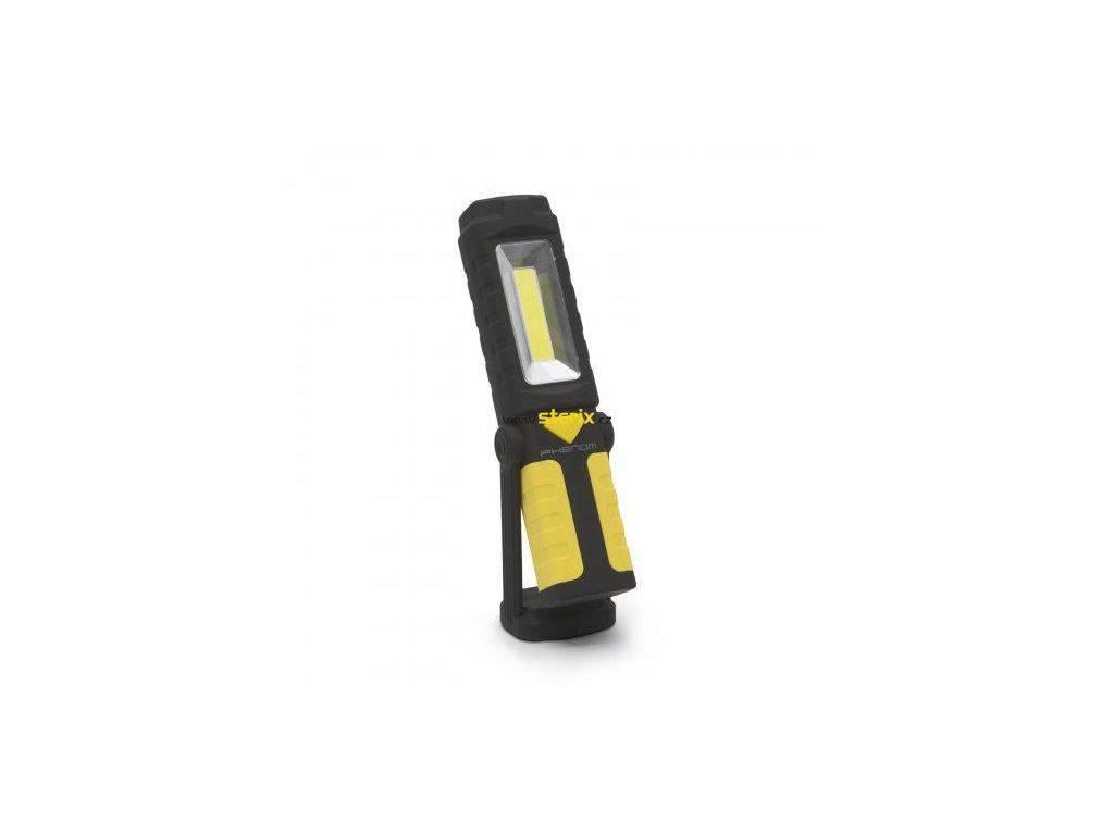 LED pracovní svítilna PHENOM s magnetem a otočnou hlavou, svítivost 250Lm, na 3xAA baterie