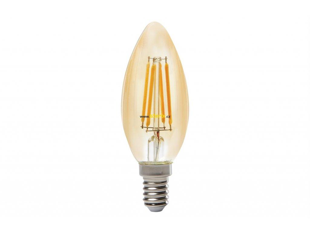 Retro LED žárovka ToLEDo RT Candle V3 GL 420Lm 825 E14 SL
