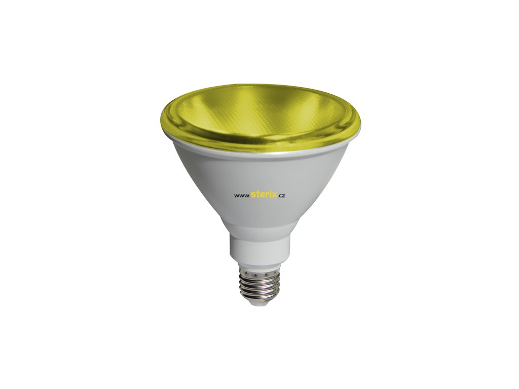 SMD RefLED PAR38 10W/230V/E27/Yellow/890Lm/45°/IP65