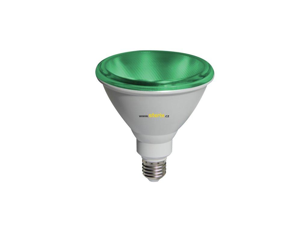 SMD RefLED PAR38 10W/42V/E27/Green/890Lm/45°/IP65