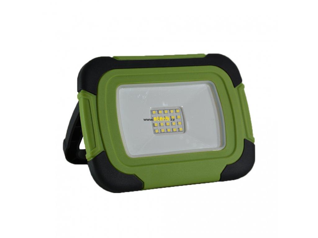 LED přenosný dobíjecí reflektor 10W/Li-Ion 3,7V-3600mAh/6400K/700Lm/100°/IP44, funkce SOS