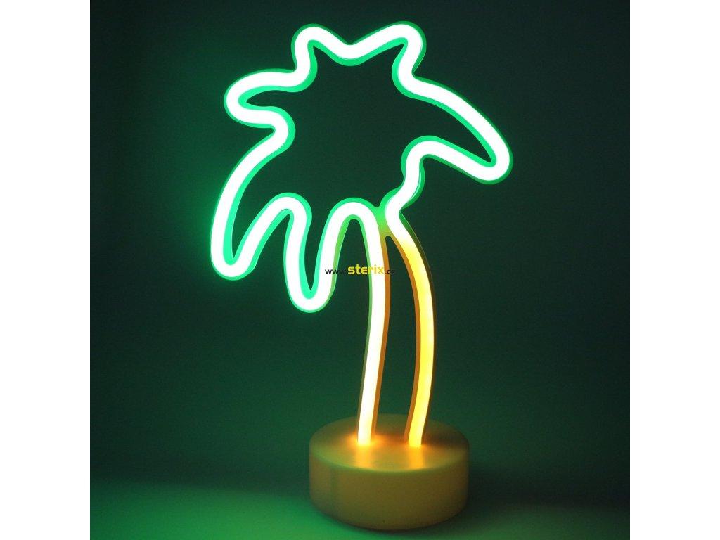 Neonová lampička - Palma, 3x AA baterie, IP20