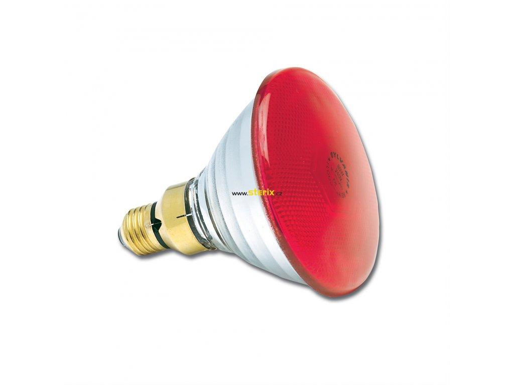 PAR38 240V 80W E27 FL30° Red