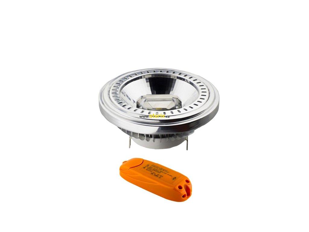 Double COB LED Reflektor AR111 G53/12V/15W/6500K/940Lm/40°/Dim + Driver 12V