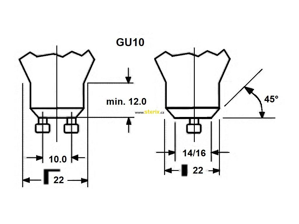 SMD LED Reflektor PAR11 2.5W/GU10/230V/6000K/280Lm/120°/A+