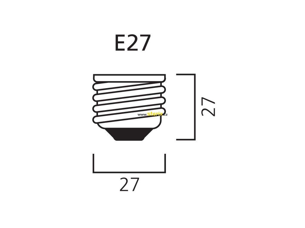 SMD LED žárovka matná A60 10W/230V/E27/3000K/900Lm/240°/Dim