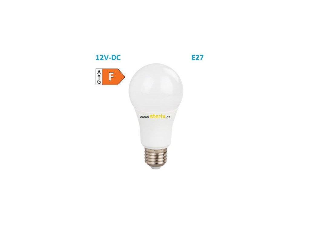 SMD LED žárovka matná Special Voltage A60 10W/12V-DC/E27/6000K/910Lm/230°