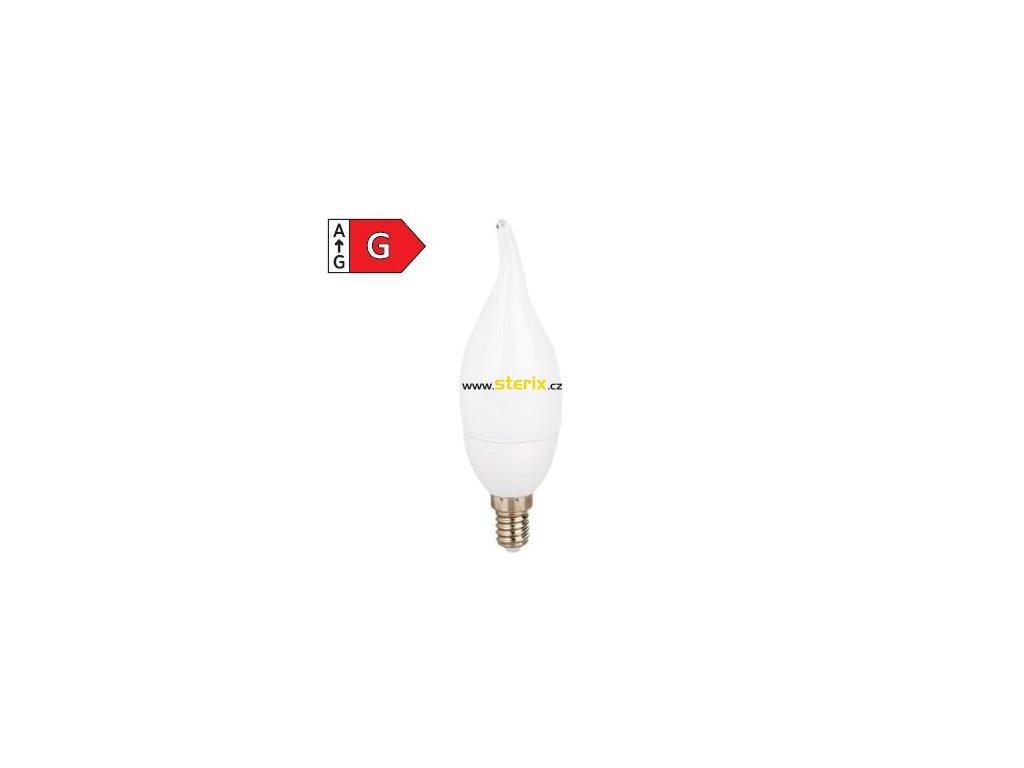 SMD LED žárovka matná Candle Tip C37 7W/230V/E14/6000K/600Lm/200°/A+