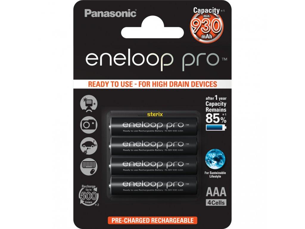 Baterie AAA/HR03 930mAh Panasonic ENELOOP PRO 4ks (blistr)