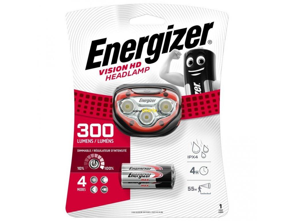 LED čelová svítilna Energizer VISION Headlight HD Vision 200Lm 3 x baterie AAA